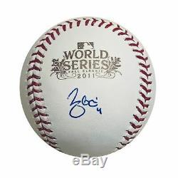 Yadier Molina Autographed St Louis Cardinals 2011 World Series Baseball JSA COA