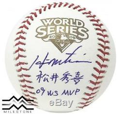 Yankees Hideki Matsui Autographed 2009 World Series Kanji Baseball JSA Auth
