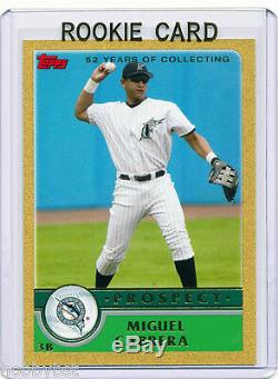 #dRCMIGUEL CABRERA 2003 Topps Traded Gold ROOKIE CARD'03WORLD SERIESMVPDET